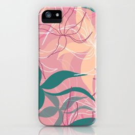 Pink Floating Flowers iPhone Case