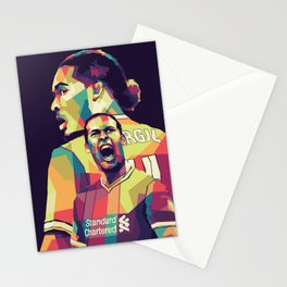 Virgil Van Dijk Pop Art Portrait Stationery Cards