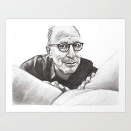 Head Critic Art Print