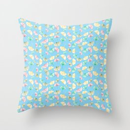 Gingko Leaves Throw Pillow