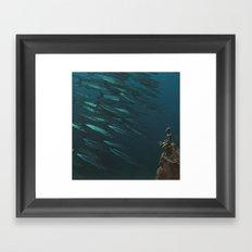 Underwater Moonlight Framed Art Print