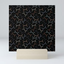 Compton scattering Feynman diagrams on Black Mini Art Print
