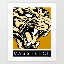 MASSILLON TIGER Art Print
