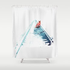 From nowhere to nowhere Shower Curtain