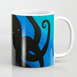 Spooky Octopus Silhouette in India Ink Coffee Mug