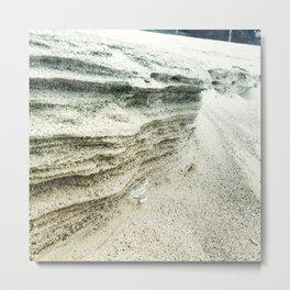 Layers of Sand Metal Print