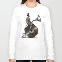 man Long Sleeve T-shirts featuring Music Man by Eric Fan