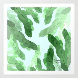 HKC-NLG Green leaves Art Print
