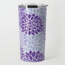 Ultra Violet Lavender Dahlias Travel Mug