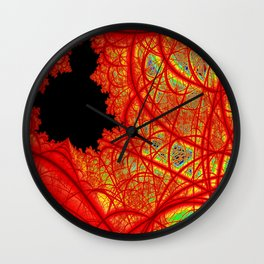 Rainbow Fractal 2 Wall Clock
