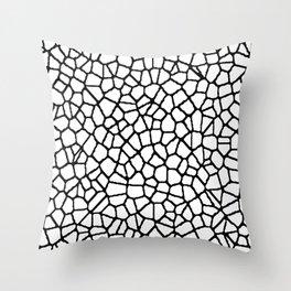 staklo (white with black) Throw Pillow