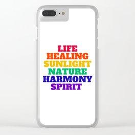 LIFE HEALING SUNLIGHT NATURE HARMONY SPIRIT - RAINBOW Clear iPhone Case