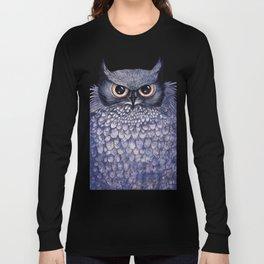 La Sagesse du Hibou (The Blue Owl) Long Sleeve T-shirt