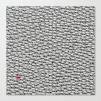 waldo Canvas Prints featuring Where's Waldo? by Ax38