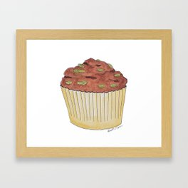 M is for Muffin Framed Art Print