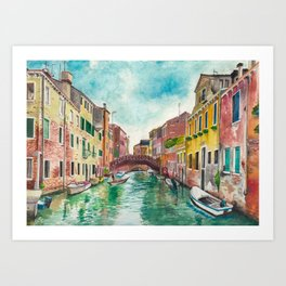 Venezia Watercolor Art Print