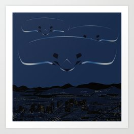 Phoenix Lights - Thursday, March 13, 1997 Art Print