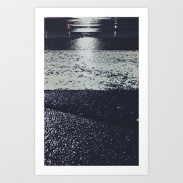 The road at night Art Print