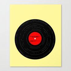 Born to Run Vinyl Canvas Print