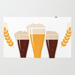 Craft Drinking Beer Funny Beer Lovers Gifts Rug