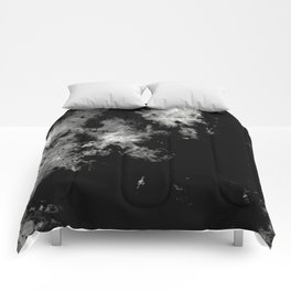 Endless Turmoil - Abstract Black And White Painting Comforters