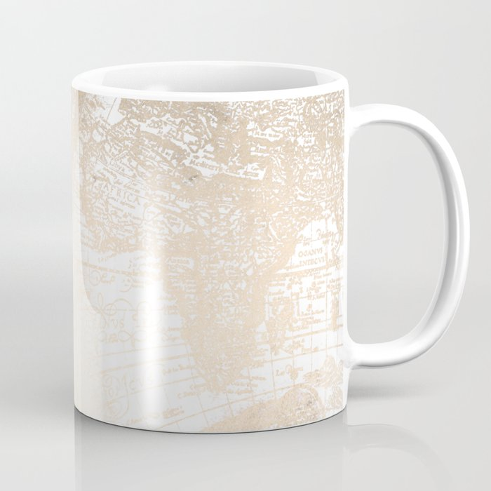 Antique white gold world map coffee mug by naturemagick society6 antique white gold world map coffee mug gumiabroncs Image collections