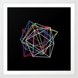 Octahedron CMYK (dark) Art Print