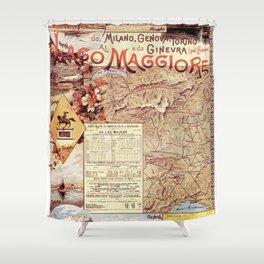 Vintage poster - Lago Maggiore Shower Curtain