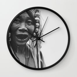 Older woman in northern Thailand Wall Clock