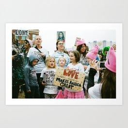 Love NOT Hate Makes America Great Art Print