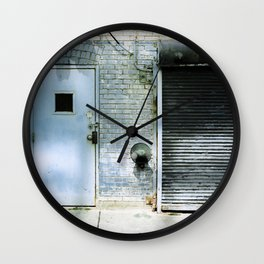 Blue Street Abstract 3 Wall Clock