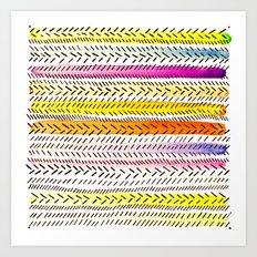 Slash dot Dash 2 Art Print
