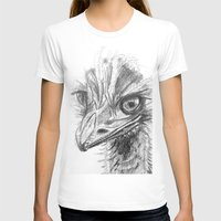 ostrich T-shirts featuring Ostrich  by Juliette Caron