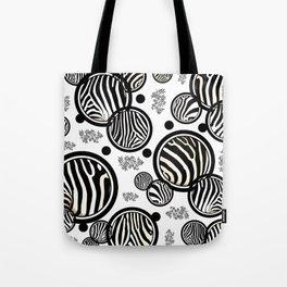 Zebra Circles Tote Bag