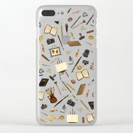 Creative Artist Tools - Watercolor on Black Clear iPhone Case