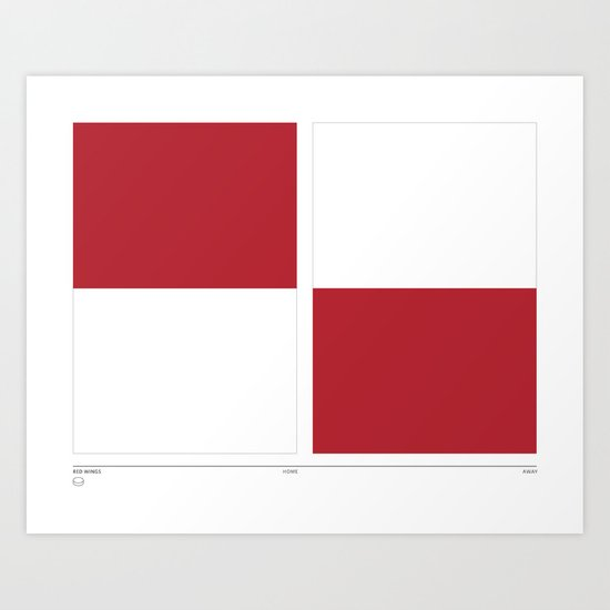 Home&Away Red Wings Art Print