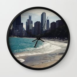 Lake Shore Waves Wall Clock