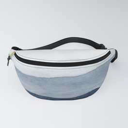 Indigo Abstract Watercolor Mountains Fanny Pack