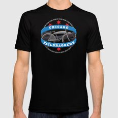 Chicago Taildraggers - Elgin Bicycle LARGE Black Mens Fitted Tee
