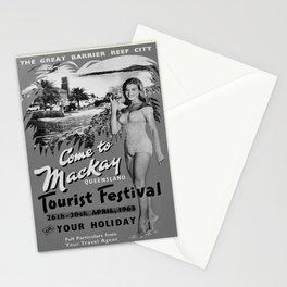 retro noir et blanc Mackay Queensland Stationery Cards