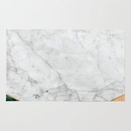 White Marble Green Granite & Wood #138 Rug