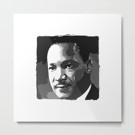 Martin Luther King Portrait Metal Print