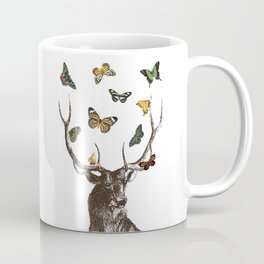The Stag and Butterflies Coffee Mug