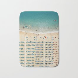 Aerial view of the beach in Rimini, Italy. Bath Mat