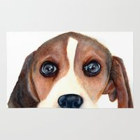 beagle Area & Throw Rugs featuring Beagle by Carmen Lai Graphics