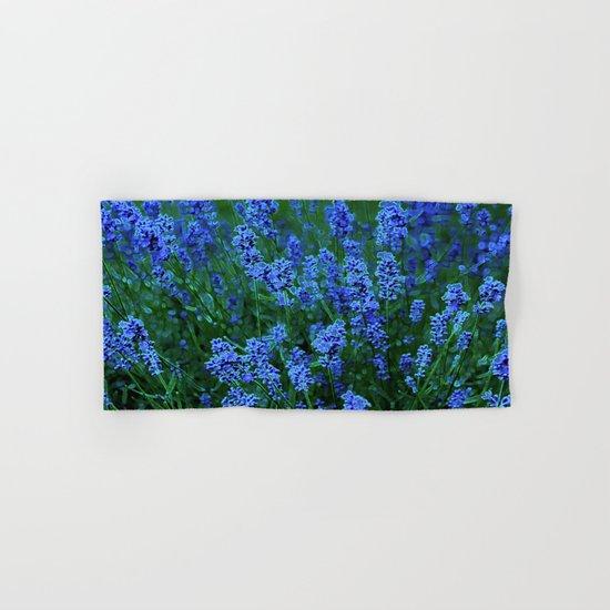 Glowing Blue Floral Hand & Bath Towel