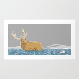 A deer (1) Art Print