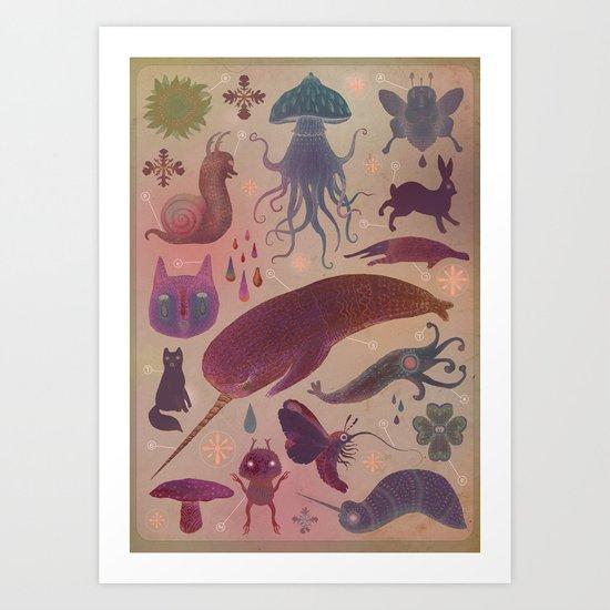 Purple Northern Dream Art Print