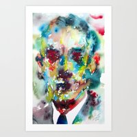 lovecraft Art Prints featuring LOVECRAFT by LAUTIR