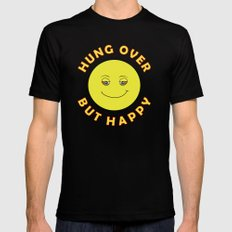 Hungover - But Happy Black MEDIUM Mens Fitted Tee